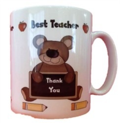 Thank You Best Teacher White 11oz Mug - Thank You Teacher Gift With Box