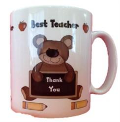 Thank You Best Teacher White 11oz Mug - Thank You Teacher Gift With Box