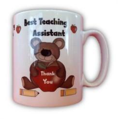 Thank You Best Teaching Assistant White 11oz Mug - Thank You Teacher Gift & Box