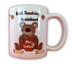 Thank You Best Teaching Assistant Personalised White 11oz Mug & Box - Any Name