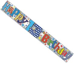 Age 13 Boy Foil Party Banner - Multicoloured Happy 13th Birthday