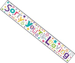 Sorry You're Leaving Silver Foil Party Banner - Sorry You Are Leaving