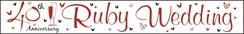 Anniversary 40 Ruby Foil Party Banner - Ruby 40th Anniversary