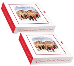 2 x Box Of 10 Traditional Premium Inserted Christmas Cards - Christmas Markets