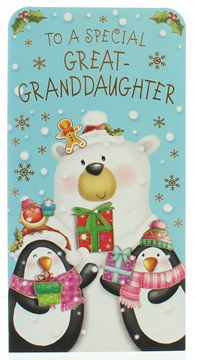 Great Granddaughter Christmas Money Wallet Gift Card & Envelope-  7x3.5""