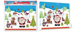 "Anker Children's Juvenile 3D Christmas Advent Calendar - 24 Windows 11.25"" x 14"""