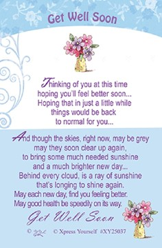 "Xpress Yourself Mini Keepsake Card 3.25"" x 2"" - Get Well Soon"