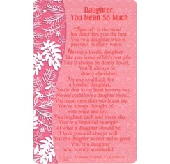 "Xpress Yourself Mini Keepsake Card 3.25"" x 2"" - Daughter You Mean So Much"