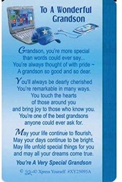 "Xpress Yourself Mini Keepsake Card 3.25"" x 2"" - To A Wonderful Grandson"