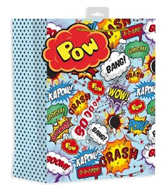 """2 x Large Teenager Gift Bags - Comic Book Speech Bubbles 13"""" x 10.25"""""""