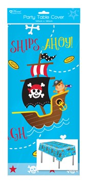 1 Oblong Plastic Children's Party Tablecloth Table Cover 120x180 Boy's Pirate
