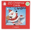 Pack Of 20 Mini Square Christmas Cards with Foil - Santa with Dinosaur & Narwhal