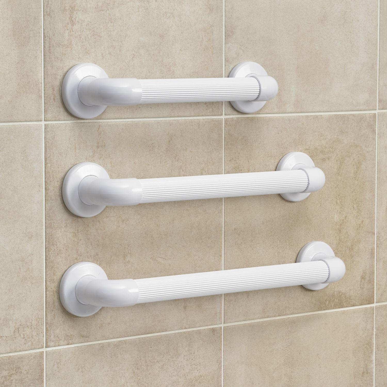 Fluted Plastic Bathroom Grab Bar | eBay
