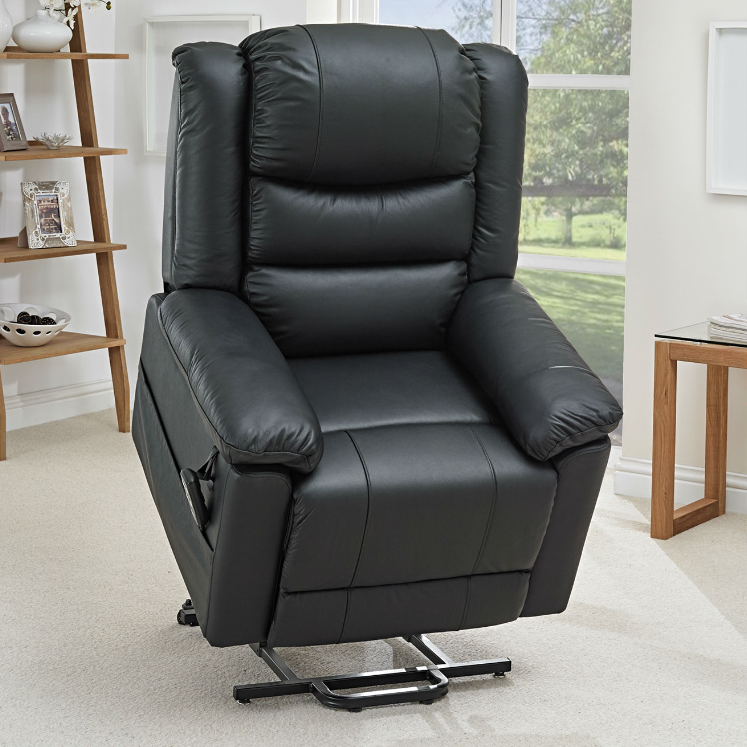 Details about NEW Toronto Leather Riser Recliner Chair
