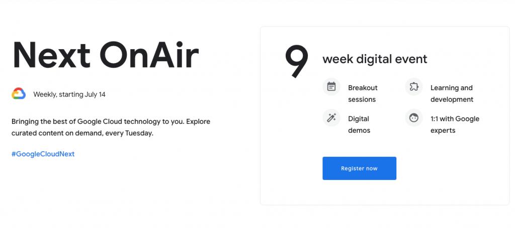 virtual tech conferences google