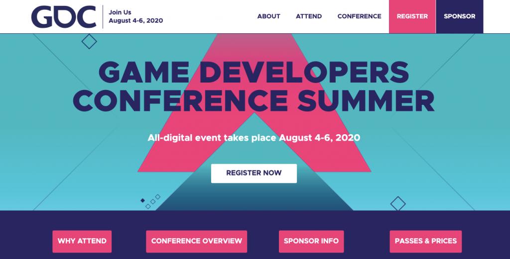 virtual tech conferences gamedev