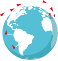 Le nombre de pays dans lesquels de Belron® est présent. + de 400 centres de pose