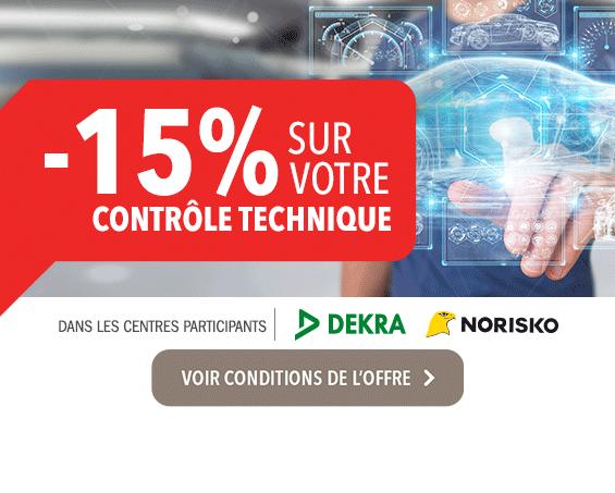 Carglass® offre -15% sur votre contrôle technique