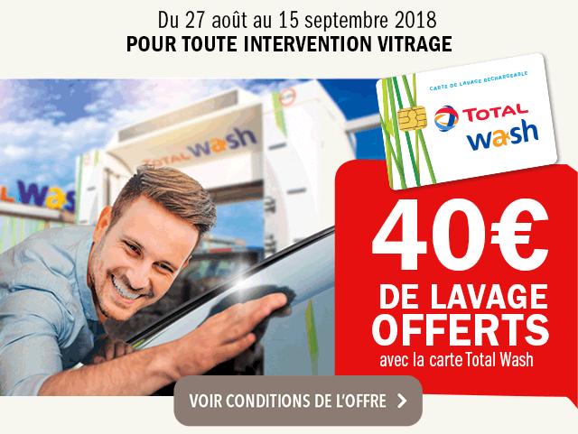 carglass® 40€ de lavage offert avec la carte total wash