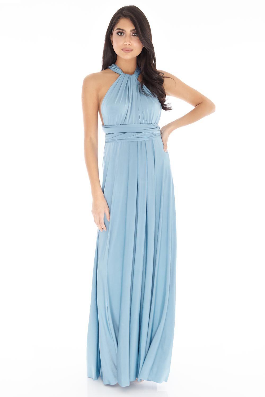 Multiway Dress in Teal #32 - Cari\'s Closet