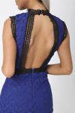 Hazel Lace Midi Dress in Royal Blue