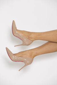 Patent Shoe in Nude