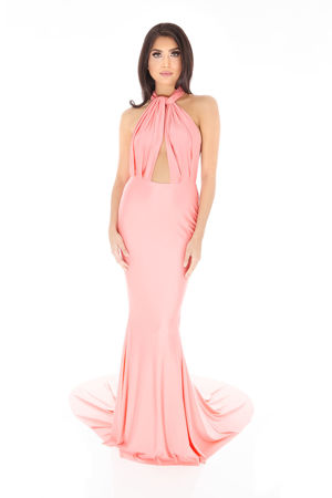 Lilliana Long Gown in Pink