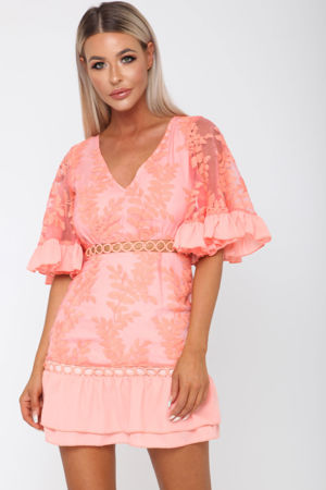 Molly Dress in Coral