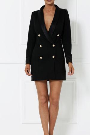 Blazer Mini Dress in Black