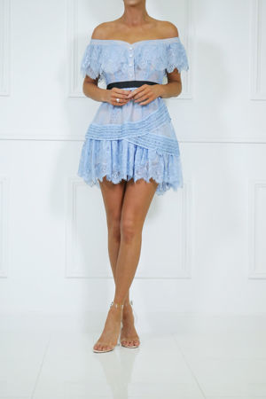 Fifi Off Shoulder Lace Mini Dress