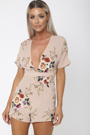 Jayde Playsuit in Apricot