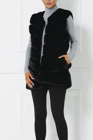 Lauren Faux Fur Gilet in Black