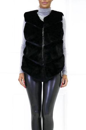Lynn Faux Fur Gilet Black