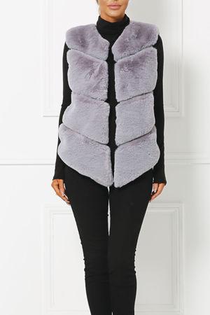 Lynn Faux Fur Gilet in Grey
