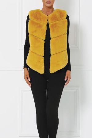 Lynn Faux Fur Gilet in Mustard