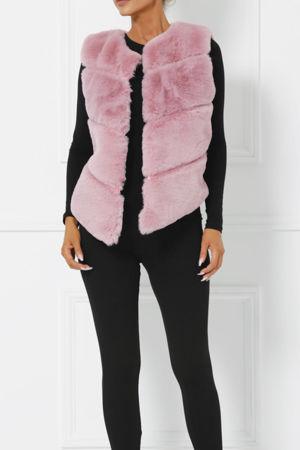 Lynn Faux Fur Gilet in Pink