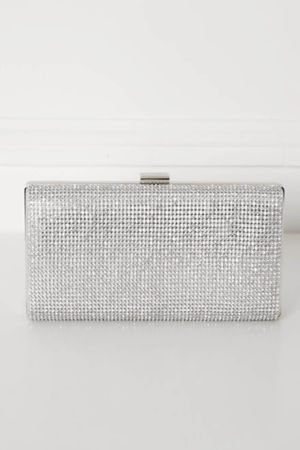 Glitz Clutch Bag in Silver