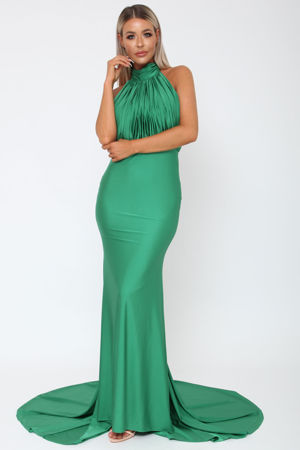 Suzanne Halter Gown in Emerald Green