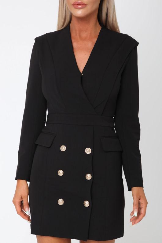 Blair Blazer Dress in Black
