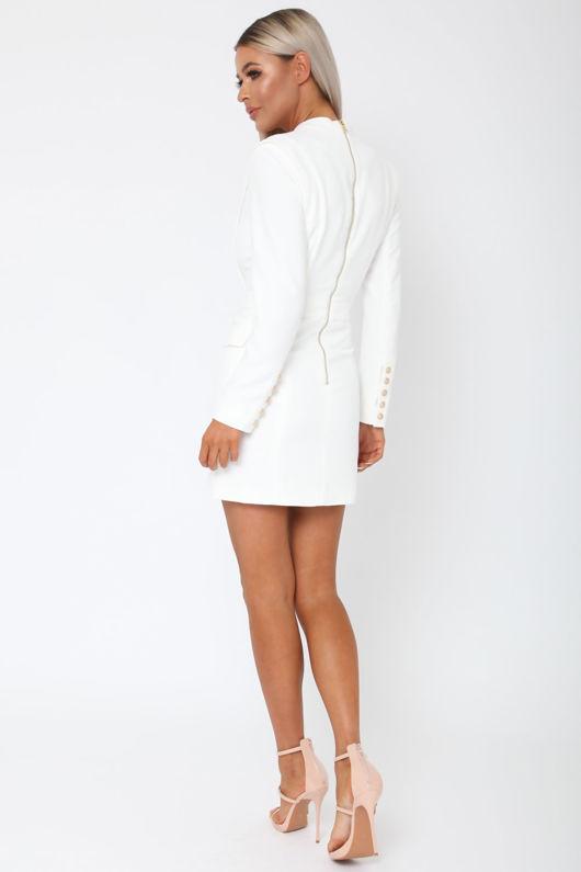 Blair Blazer Dress in Cream