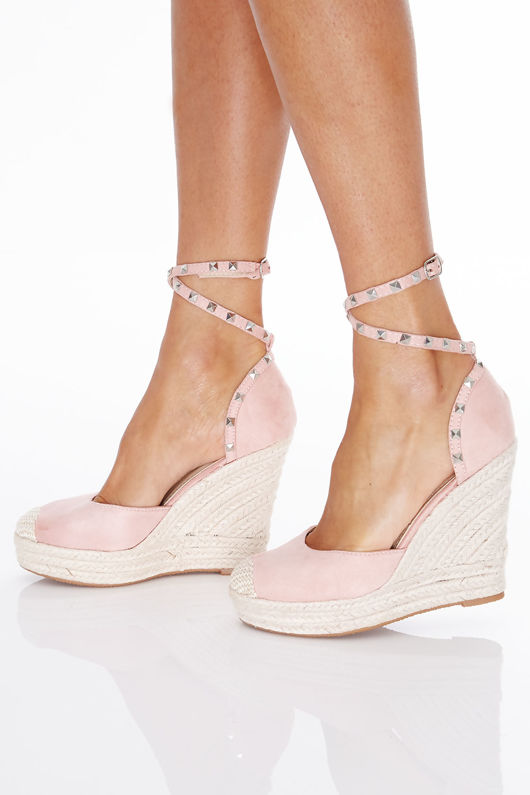 Bohemian Wedges in Pink