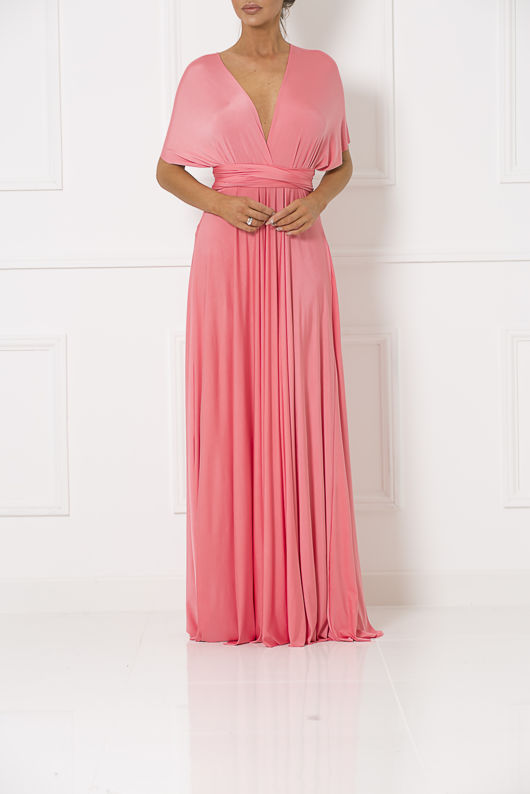 Multiway Dress In Coral #110