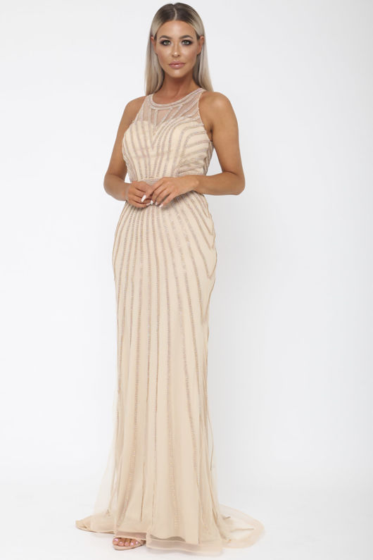 Diana Long Gown in Gold