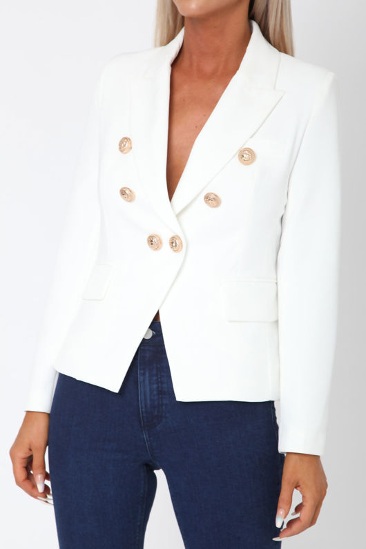 Oliver Blazer in White