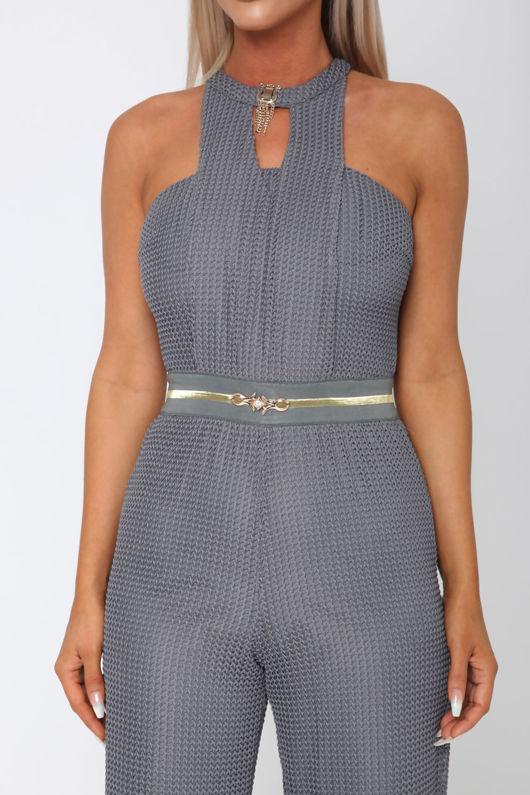 Lexx Jumpsuit in Grey