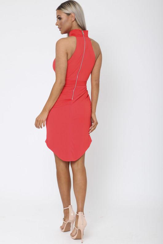 Morgan Short Dress in Red