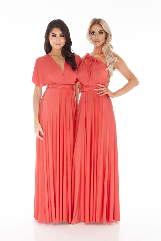 Multiway Dress in Blood Orange Red