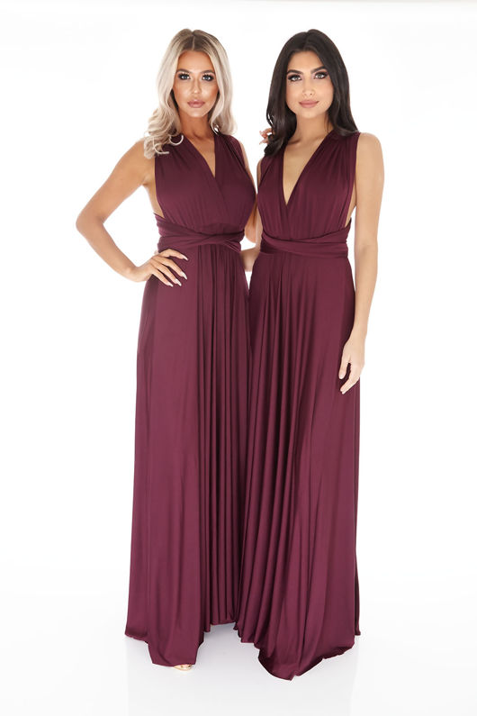 Multiway Dress in Plum