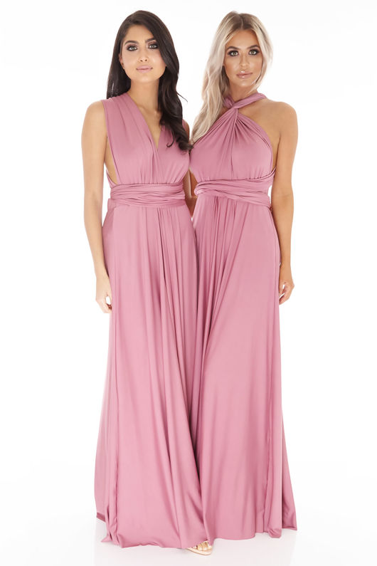 Multiway Dress in Dusty Rose #23