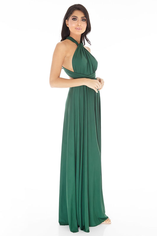 Multiway Dress in Emerald Green #46